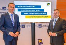Wirtschaftslandesrat Jochen Danninger und Finanzlandesrat Ludwig Schleritzko