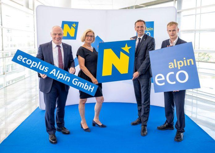 (v.l.n.r.): ecoplus-Geschäftsführer Helmut Miernicki, Landeshauptfrau Johanna Mikl-Leitner, Landesrat Jochen Danninger und ecoplus Alpin Geschäftsführer Markus Redl (Bildquelle: NLK/Filzwieser)