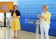 (v.l.n.r.): Landesrätin Christiane Teschl-Hofmeister und Landeshauptfrau Johanna Mikl-Leitner bei der Pressekonferenz im St. Pöltner Landhaus (Bildquelle: Thomas Resch)